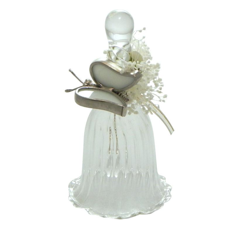 8279c8b322 Recuerdo para bodas Campanita de cristal decorada